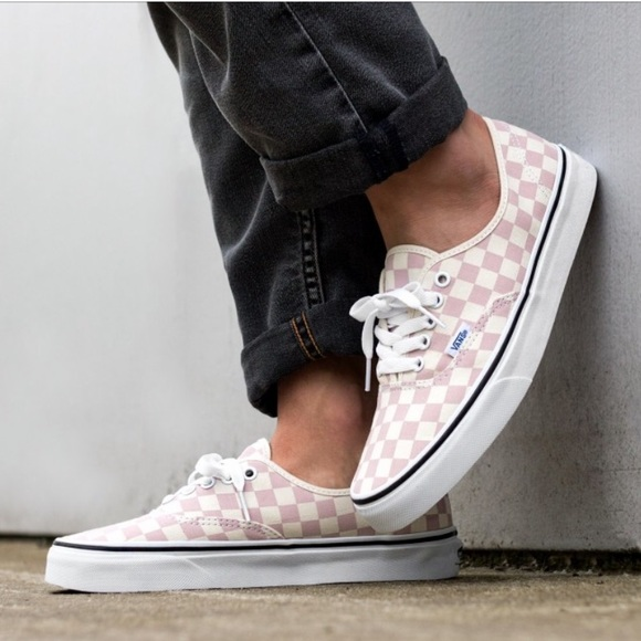 0c58b68c1009a8 NWT VANS Authentic Checkerboard Chalk Pink Men's NWT